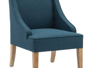 Accent Fabric Wingback Chair  Solid Wood Upholstered Armchair  Retail 201 99