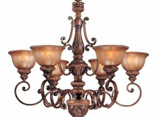 Minka lavery Illuminati 6 light Chandelier   Illuminati Bronze