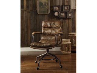 Acme Furniture Harry Office Chair  Vintage Whiskey leather
