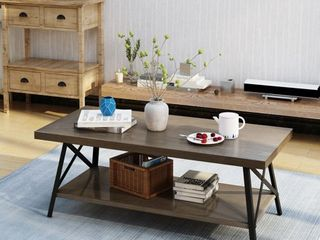 Camaran Industrial Wood Coffee Table by Christopher Knight Home  Retail 188 99