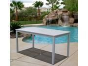 Vifah Renaissance Outdoor Hand Scraped Rectangular Table   Gray