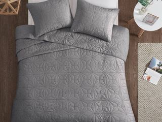 Gray Harper Cotton Coverlet Mini Set  Full Queen