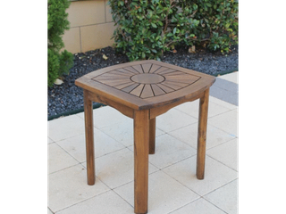 International Caravan Highland Sun Burst Outdoor Side Table  Retail 76 98