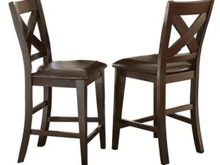 Copley 24 inch Counter Height X Back Chair by Greyson living  Set of 2    43 inches high x 22 inches deep x 19 inches wide