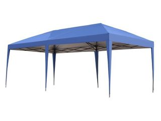 Outsunny 10x20 foot Easy Po up Canopy Party Tent  Retail 168 49