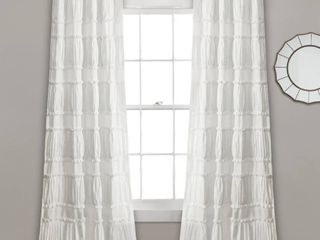 lush Decor Nova Ruffle Window Curtain Panel Pair
