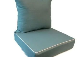 Suntastic Indoor Outdoor Turquoise Textured Seat Cushions and Pillows  Set of 4    Retail 78 00