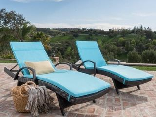 Vilano Outdoor Cushioned lounge Chairs  Set of 2  by Havenside Home  Retail 615 99 NO CUSHIONS