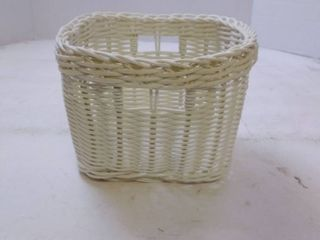 small white wicker basket