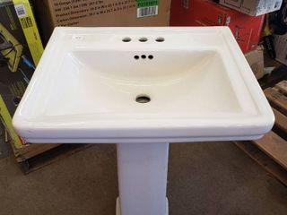 Bathroom Sink   Pedestal Stand 22 in w x 18 5 l