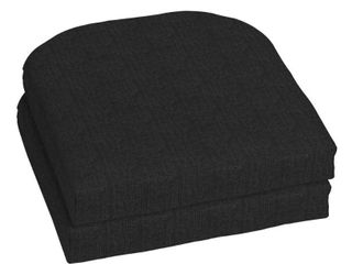 Home Decorators Collection 18 x 18 Sunbrella Canvas Black Outdoor Chair Cushion  2 Pack