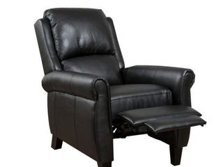 Haddan Black Push Up Recliner by Noble House
