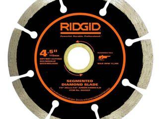 RIDGID 4 1 2 in  Segmented Diamond Blade 3 BlADES