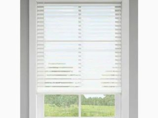 levolor 2 5 in White Faux Wood Blinds 30 1 2 X72  Includes Hardware