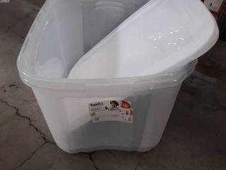 Bella Storage Solutions 18 Gallon Storage Tubs