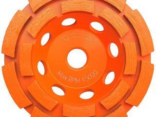 RIDGID 4 in  Double Row Diamond Cup Wheel 2 TOTAl