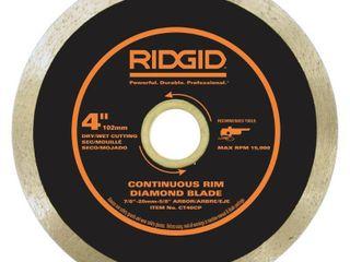 RIDGID 4 in  Continuous Diamond Blade  2 blades total