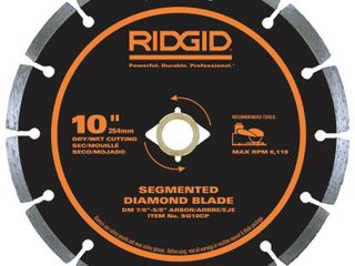 RIDGID 10 in  Segmented Diamond Blade