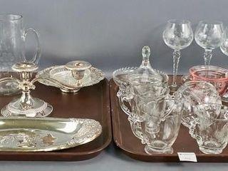 Cornflower glassware etc