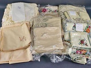 linen tablecloths etc