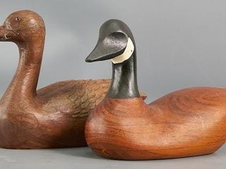 2 Carved Wood Decoys