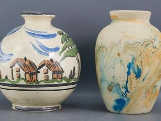 Hand Decorated Vases