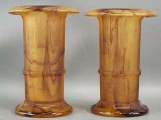 English  Marble  Glass Vases