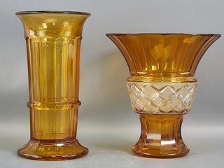 Amber Glass Vases