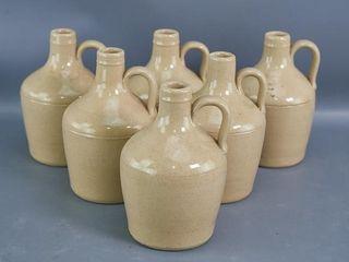 6 Stoneware Jugs