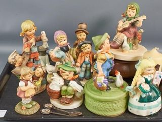Hummel  Style Figurines and Music Boxes