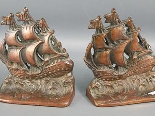 Pair of Sail Boat Bookends