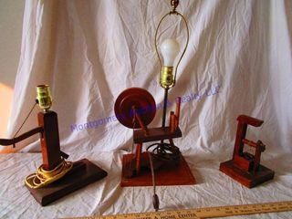 HAND CRAFTED WOOD lAMPS