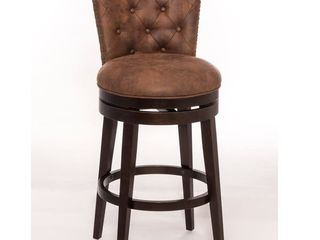 Gracewood Hollow Susic Tufted Brown Swivel Counter Stool Retail 188 61