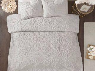 Madison Park 3pc Cotton Chenille Comforter Set