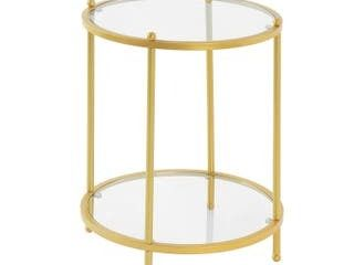 Silver Orchid Farrar 2 tier Round End Table Retail 83 49