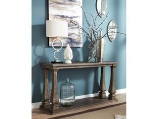 Signature Design by Ashley Johnelle Gray Sofa Table   Brown