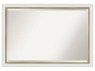 Porch  amp  Den Katherine White Gold Narrow Bathroom Vanity Wall Mirror Retail 229 99