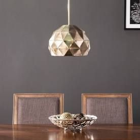 Strick   Bolton Contemporary Brass Metal 1 light Pendant  Retail 103 49