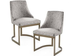 Madison Park Robertson Dining Chair  set of 2  Grey