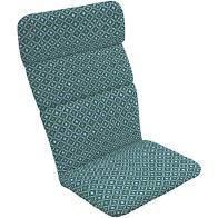 Arden Selection Alana Tile Outdoor Chaise Cushion Aqua Print Color