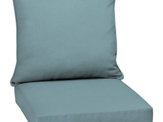 Arden Selections Surf Canvas Acrylic Outdoor Deep Seat Set   46 5 in l x 25 in W x 6 5 in H