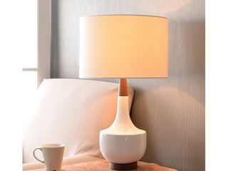 Design Craft Marlo 26  White Glossy Ceramic Table lamp  Retail 119 99