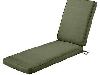 Classic Accessories Montlake Water Resistant Patio Chaise lounge Cushion  Antique Beige