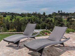 Havenside Home Vilano Outdoor lounge Chairs  Set of 2