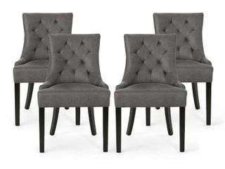 Christopher Knight Home Hayden Contemporary Tufted Microfiber Dining Chairs Set of 4