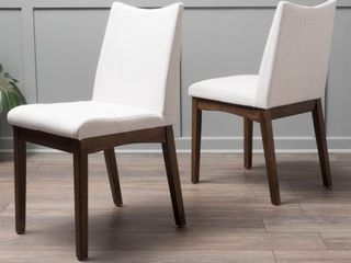 Dimitri Mid Century Fabric Dining Chair  Set of 2