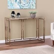 Silver Orchid Simons Faux Marble Console Table