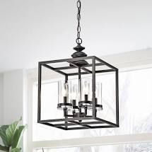 The lighting Store Eleonor Antique Black 4 light Ironwork Chandelier Retail 114 49