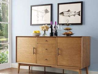 Crosley Furniture landon Sideboard in Acorn   57 W x 19 D x 30 H Retail 558 99