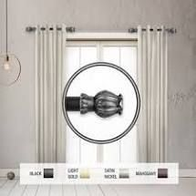 InStyleDesign Majesty 1  dia  Side Curtain Rod 12 20 inch long  Set of 2    12 to 20 inches Retail 76 98